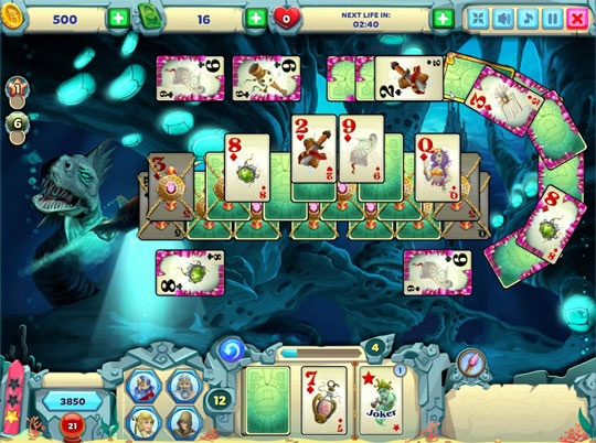 Locked Cards in Solitaire Atlantis