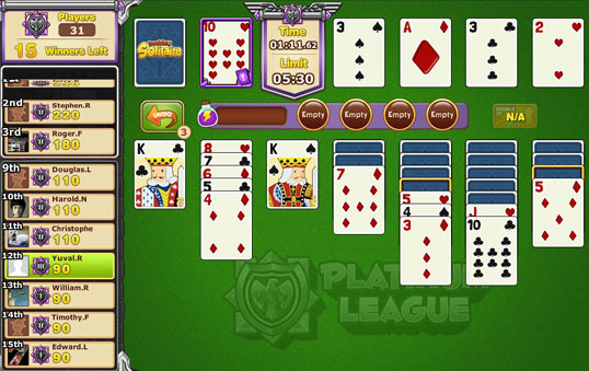 Fast Paced Action in DoubleU Solitaire