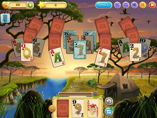 Find the Water Cards in Solitaire Safari