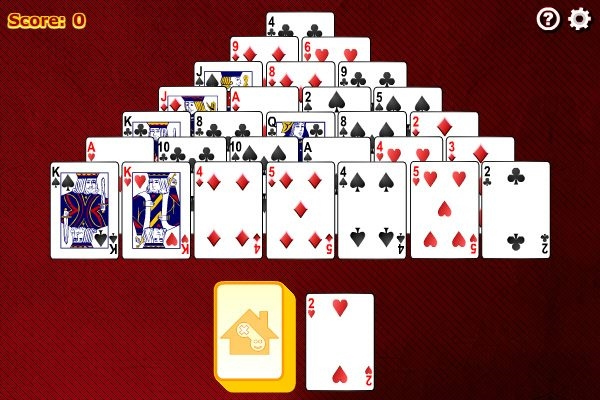 free pyramid solitaire card games