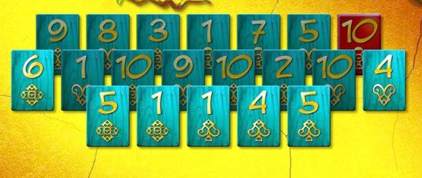 Maya Pyramid - Match the cards to 11 and build your own Mayan Pyramid.