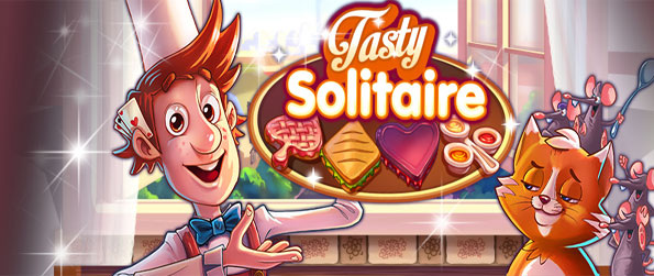 Tasty Solitaire - Enjoy a fun kitchen themed solitaire game full of fun free on Facebook.