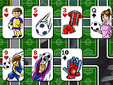 Soccer Solitaire Unique Game Screen Layout